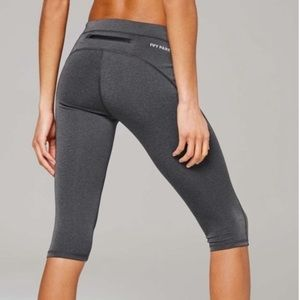 Ivy Park Gray Athletic Cropped Leggings